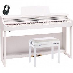 ROLAND -PACK- RP701 WH PIANO DIGITAL BLANCO + BANQUETA Y AURICULARES