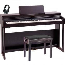 ROLAND -PACK- RP701 DR PIANO DIGITAL DARK ROSEWOOD + BANQUETA Y AURICULARES