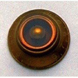 ALL PARTS PK0140022 BELL KNOBS (2) AMBER, VINTAGE STYLE NUMBERS