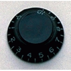 ALL PARTS PK0140023 BELL KNOBS (2) BLACK, VINTAGE STYLE NUMBERS
