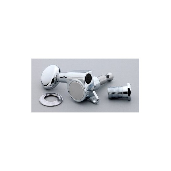 ALL PARTS TK7560L10 ECONOMY TUNING KEYS CHROME 6-IN-LINE LEFT-HANDED