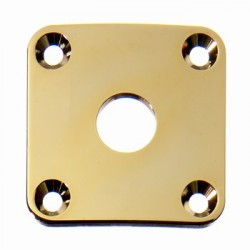 ALL PARTS AP0633002 JACKPLATE FOR LES PAUL CURVED, GOLD, WITH MOUNTING SCREWS