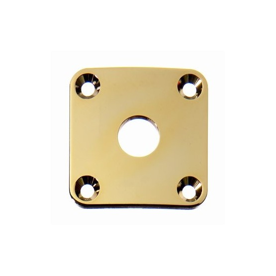 ALL PARTS AP0633002 JACKPLATE FOR LES PAUL CURVED GOLD WITH MOUNTING SCREWS