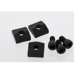 ALL PARTS BP0116003 NUT BLOCKS (3) FOR FLOYD ROSE OR SCHALLER LOCKING NUTS BLACK