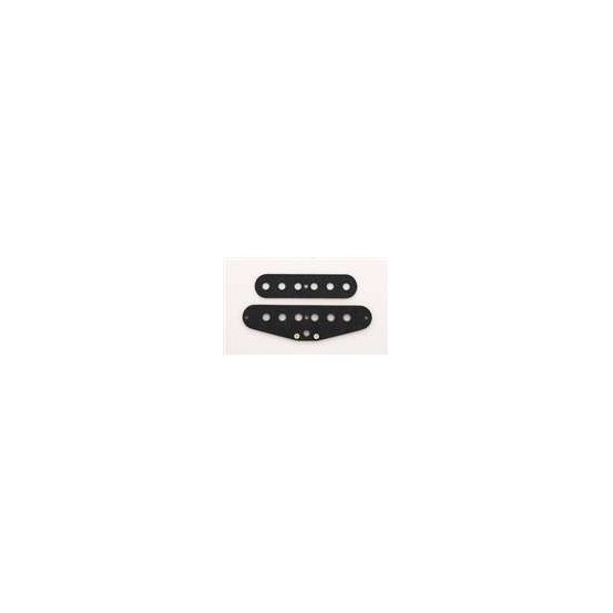ALL PARTS PU6930023 PICKUP FLAT SET FOR STRAT, BLACK, 2 PIECES TOP & BOTTOM.
