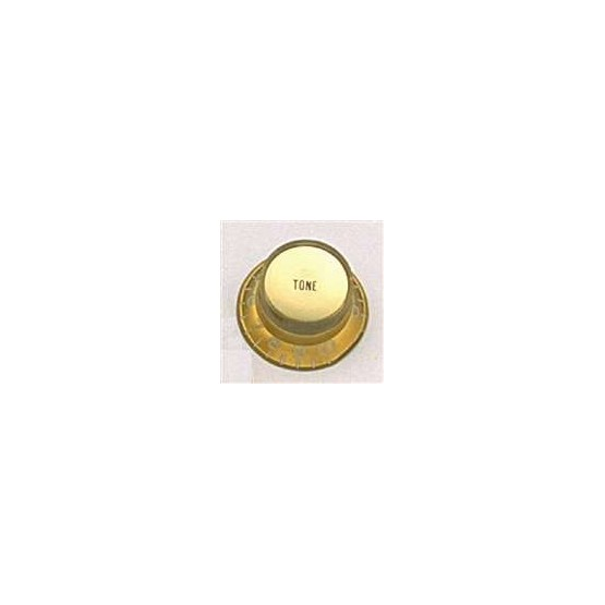 ALL PARTS PK0182032 REFLECTOR CAP TONE KNOBS (2) GOLD, FITS USA SPLIT SHAFT POTS