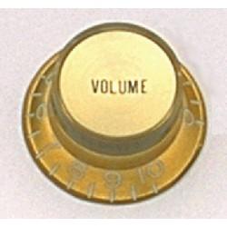 ALL PARTS PK0184032 REFLECTOR CAP VOLUME KNOBS (2) GOLD, FITS USA SPLIT SHAFT POTS