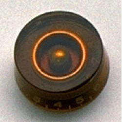 ALL PARTS PK0130022 SPEED KNOBS (2) AMBER VINTAGE STYLE NUMBERS FITS USA SPLIT SHAFT POTS