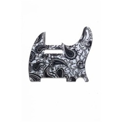 ALL PARTS PG0560042 PICK GUARD FOR TELE, BLACK AND SILVER PAISLEY (5 SCREW HOLES).