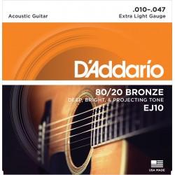 DADDARIO EJ10 JUEGO CUERDAS GUITARRA ACUSTICA 010-047