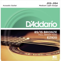 D'ADDARIO EZ920 JUEGO CUERDAS GUITARRA ACUSTICA 012-054