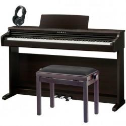 KAWAI -PACK- KDP120 RW PIANO DIGITAL PALOSANTO + BANQUETA Y AURICULARES