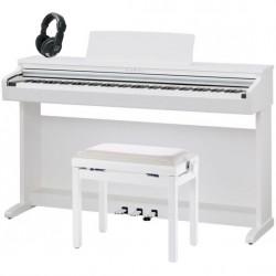 KAWAI -PACK- KDP120 WH PIANO DIGITAL BLANCO + BANQUETA Y AURICULARES