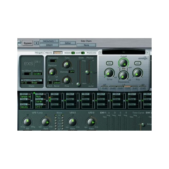 EMAGIC EXS24 SAMPLER SOFTWARE. DEMO.