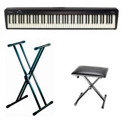 ROLAND -PACK- FP10BK PIANO DIGITAL CON SOPORTE TIJERA Y BANQUETA