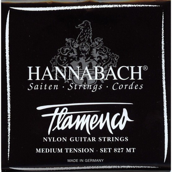 HANNABACH 8274MT FLAMENCO BLACK CUERDA 4 GUITARRA FLAMENCA