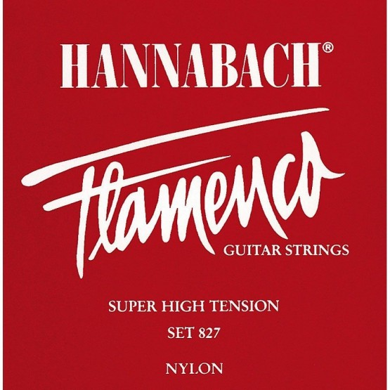 HANNABACH 8276SHT 6ª CUERDA GUITARRA FLAMENCA ROJA