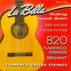 LA BELLA 826 CUERDA 6ª GUITARRA FLAMENCA ROJO