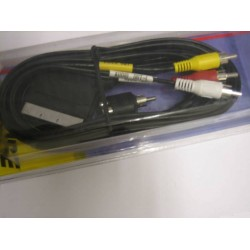 MONACOR 50631 CABLE EUROCONECTOR/ 3 RCA + ADAPTADOR.