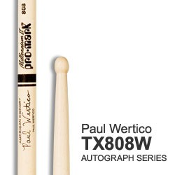 PRO MARK TX808W PAR BAQUETAS PAUL WERTICO HICKORY WOOD
