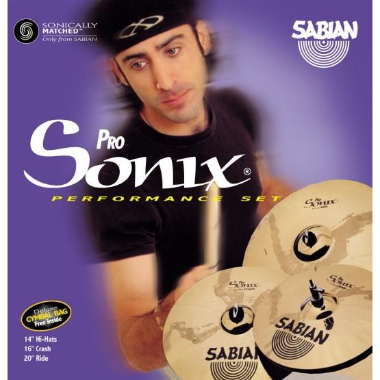 SABIAN PRO SONIX 35003SXC PACK JUEGO PLATOS BATERIA + ESTUCHE. DEMO.