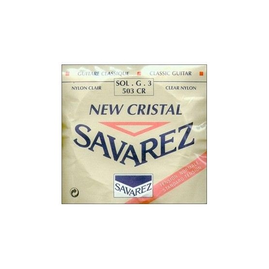 SAVAREZ 503 CR 3ª CUERDA NEW CRISTAL ROJA GUITARRA ESPAÑOLA
