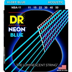 DR NBA-11 NEON BLUE JUEGO DE CUERDAS GUITARRA ACUSTICA 011-050