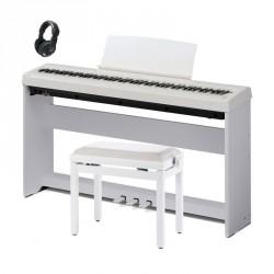 KAWAI -PACK- ES110 WH PIANO DIGITAL BLANCO + SOPORTE + PEDALERA + BANQUETA Y AURICULARES