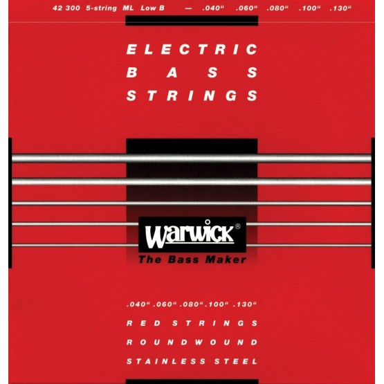 WARWICK 42300 RED JUEGO 5 CUERDAS BAJO 040-130