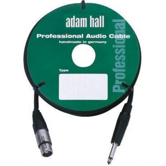 ADAM HALL KM10FP2BLK CABLE DE MICROFONO CON CONECTOR NEUTRIK 10 M NEGRO.