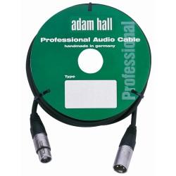 ADAM HALL KM1FMBLK CABLE DE MICROFONO CON CONECTOR NEUTRIK NC3FX NC3MX 1 METRO NEGRO.