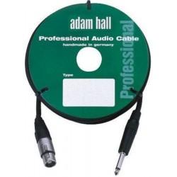 ADAM HALL KM3FP2BLK CABLE DE MICROFONO CON CONECTOR NEUTRIK 3 M NEGRO.