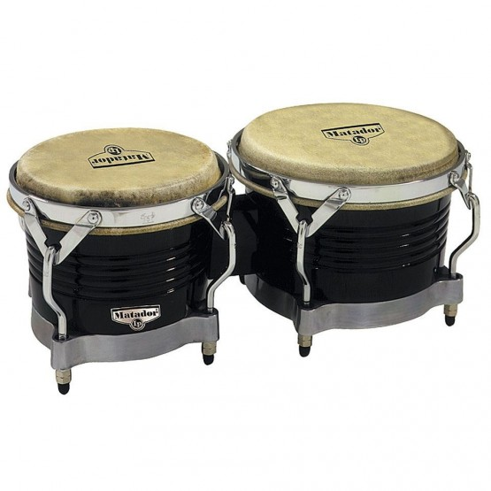 LATIN PERCUSSION M201BKWC BONGOS BLACK CHROME