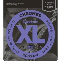 D'ADDARIO ECG247 JUEGO CUERDAS GUITARRA ELECTRICA 011-065