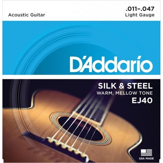 DADDARIO EJ40 JUEGO CUERDAS GUITARRA ACUSTICA 011-047