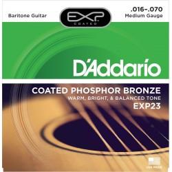DADDARIO EXP23 JUEGO CUERDAS GUITARRA ACUSTICA BARITONO 016-070.