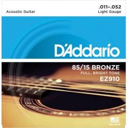DADDARIO EZ910 JUEGO CUERDAS GUITARRA ACUSTICA 011-052