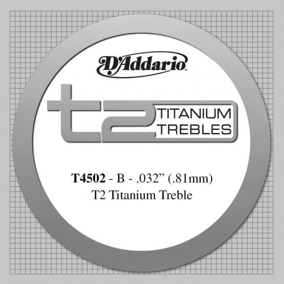 D'ADDARIO T4502 CUERDA 2ª TITANIO GUITARRA ESPAÑOLA