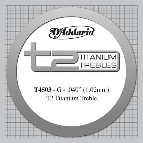 D'ADDARIO T4503 CUERDA 3ª TITANIO GUITARRA ESPAÑOLA