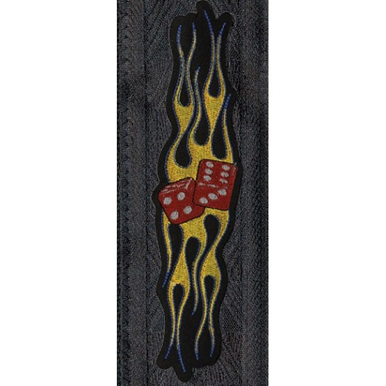 PLANET WAVES 64P05 CORREA PATCH FLAMING DICE.