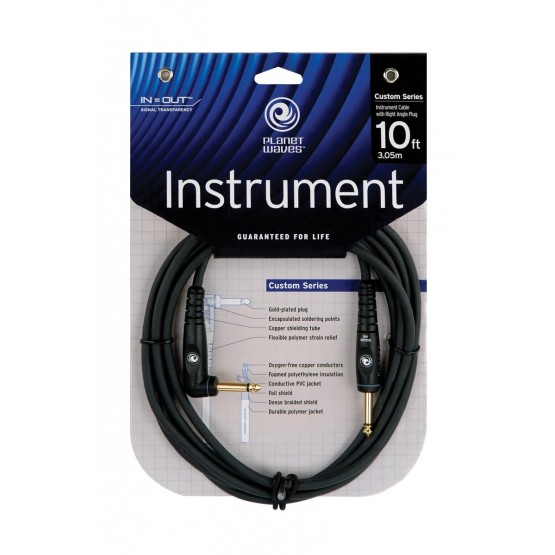 PLANET WAVES GRA10 CABLE GUITARRA 3M JACK/CODO