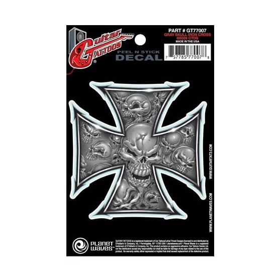 PLANET WAVES GT77007 GUITAR TATOO GREY IRON CROSS (SET 5 PEGATINAS).