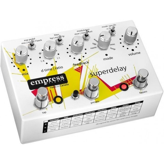 EMPRESS SUPERDELAY PEDAL ECHO & DELAY. DEMO.