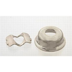 ALL PARTS AP0275001 CUP JACKPLATE FOR TELE WITH CLIP NICKEL