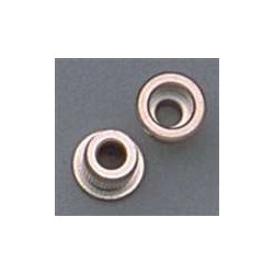 ALL PARTS AP0287001 STRING FERRULES FOR BASS NICKEL 3/8