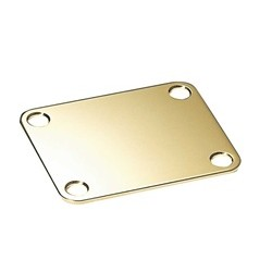 ALL PARTS AP0600002 NECK PLATE, STEEL, 4 HOLE, FOR GUITAR OR BASS, GOLD