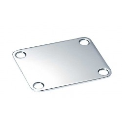 ALL PARTS AP0600010 NECK PLATE, STEEL, 4 HOLE, FOR GUITAR OR BASS, CHROME