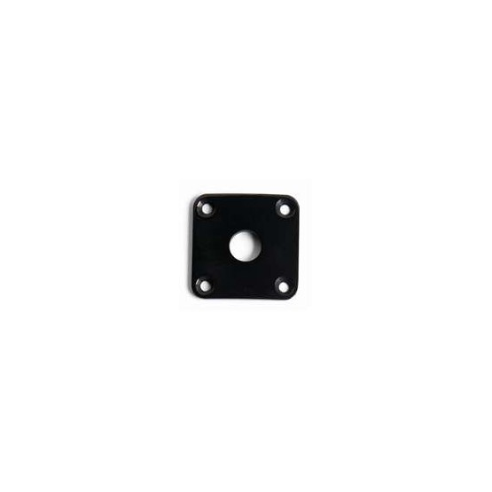 ALL PARTS AP0633003 JACKPLATE FOR LES PAUL CURVED BLACK CHROME WITH MOUNTING SCREWS