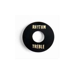 ALL PARTS AP0663023 RHYTHM/TREBLE RING FOR TOGGLE SWITCH BLACK PLASTIC