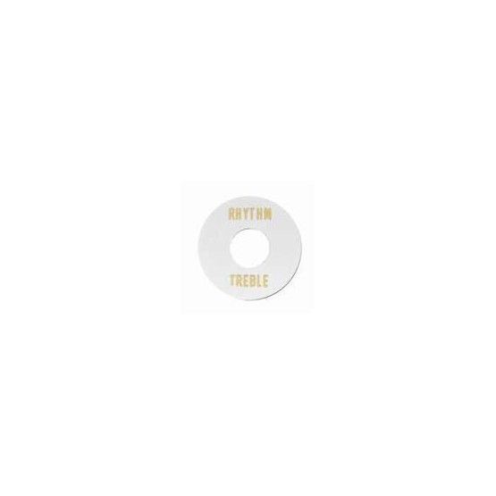 ALL PARTS AP0663025 RHYTHM/TREBLE RING FOR TOGGLE SWITCH, WHITE PLASTIC